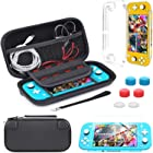 Carrying Case Compatible with Nintendo Switch Lite,Portable Travel Protective Hard Case with 8 Games Cartridges Compatible wi
