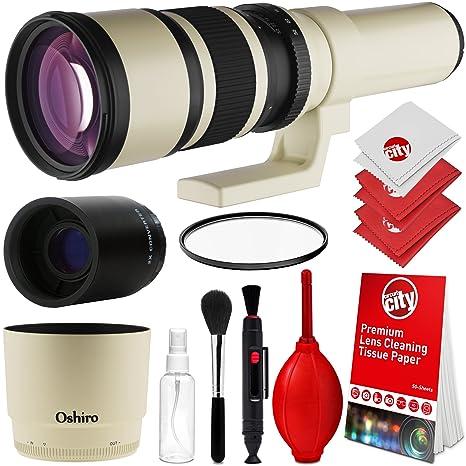 OSHIRO 500 mm/1000 mm f/6.3 Manual Teleobjetivo para Sony A7R, A7S ...