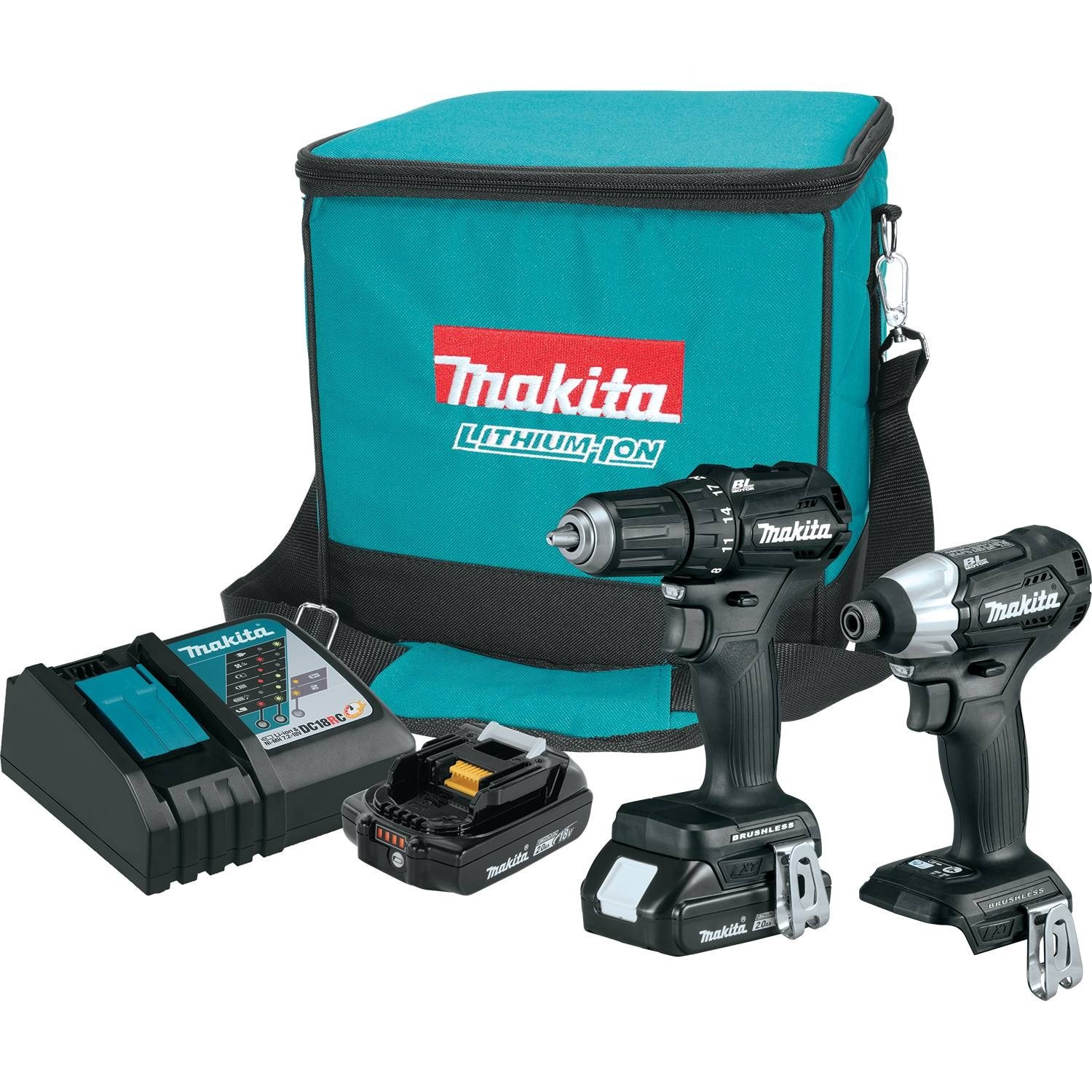 Makita CX200RB 18V LXT Lithium-Ion Sub-Compact Brushless Cordless 2-Pc. Combo Kit (2.0Ah) by Makita
