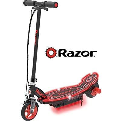 Razor Power Core E90 Glow Electric Scooter - Black/Red Glow - FFP : Sports & Outdoors