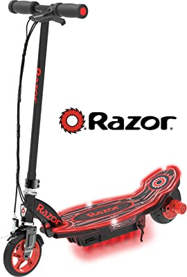 Razor Power Core E90 Glow Electric Scooter - Black/Red Glow - FFP=