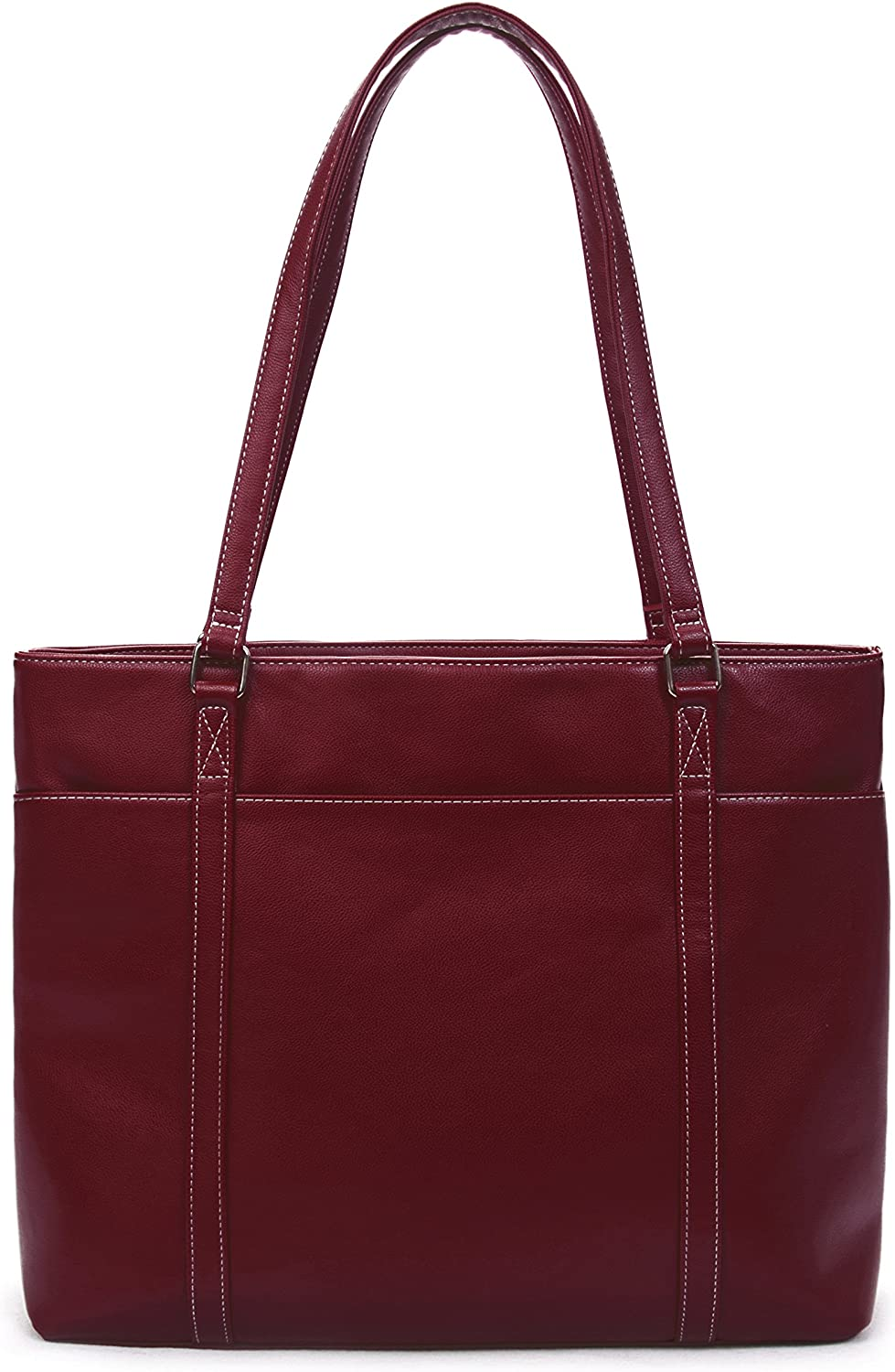 Overbrooke Classic Laptop Tote Bag - Vegan Leather Womens Shoulder Bag for Laptops up to 15.6 Inches