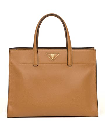 abee2fc519 Amazon.com   Prada Womens Saffiano Soft Tote Bag in Caramel Brown Leather  Handbag Purse BN2603 F098L   Baby