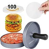GWHOLE Non Stick Burger Press + 100 Wax Discs, Ideal for BBQ, Lifetime Warranty