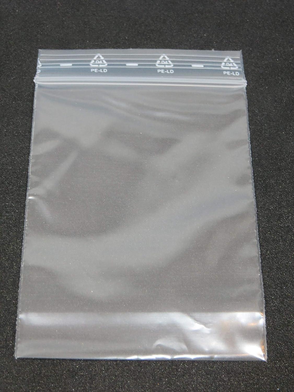 100 pezzi 60 X 80 mm/50ɥm, in polietilene ermetiche, Zip sacchetto, veloce verschuss, Quicksafe, Bustine, Sacchetti di plastica, Zipper sacchetto grammatons