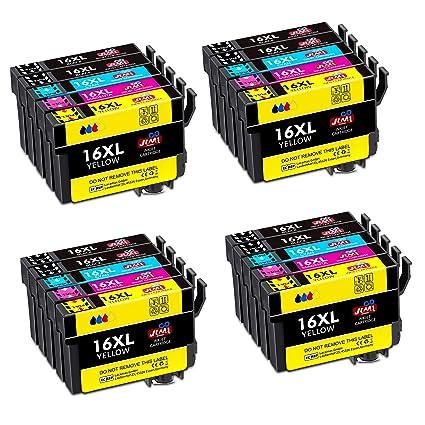 JIMIGO 16 XL Alta Capacidad Cartuchos de Tinta para Epson 16 16XL ...