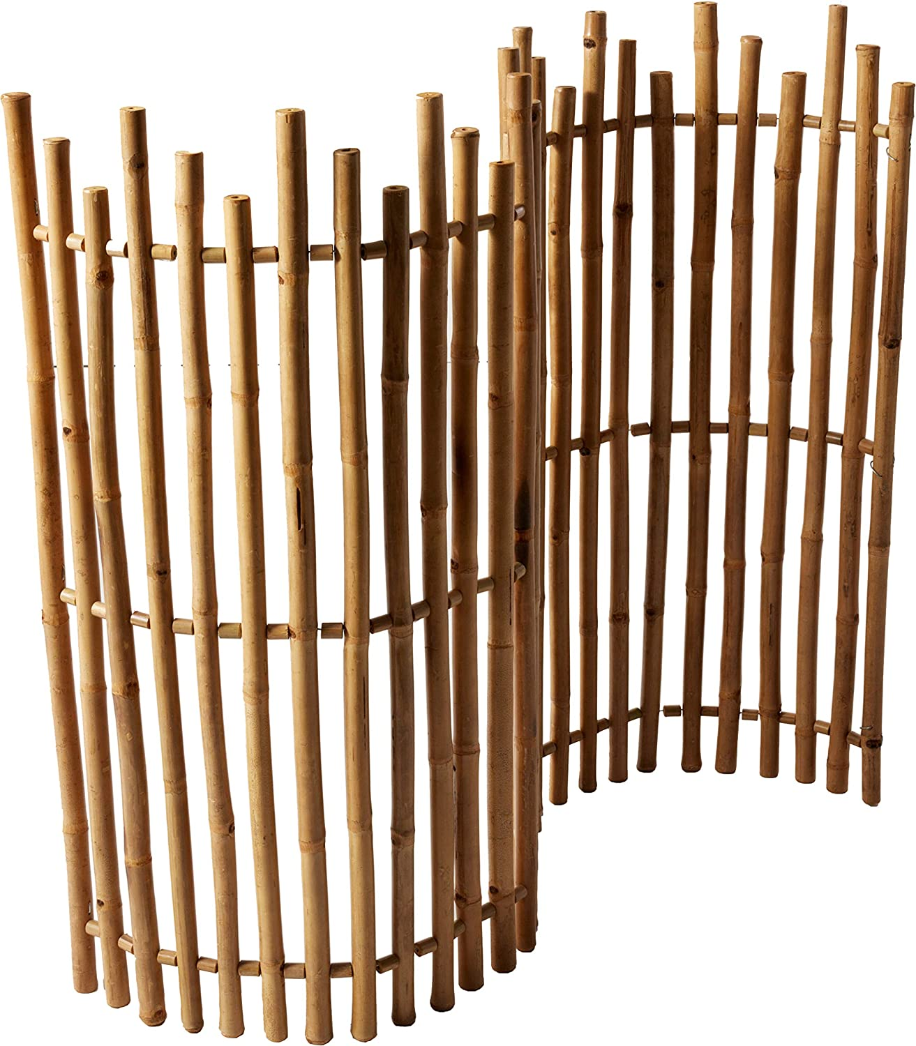 "Master Garden Products NBF-48 MasterGardenProducts Bamboo Picket Rolled Fence, 48"" H x 60"" L, Tan"