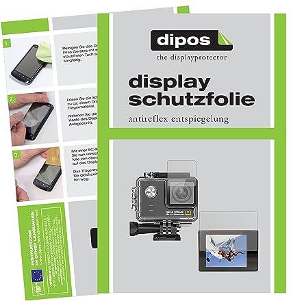 dipos I 6X Schutzfolie matt passend für Easypix GoXtreme Black Hawk 4K+ Folie Displayschutzfolie