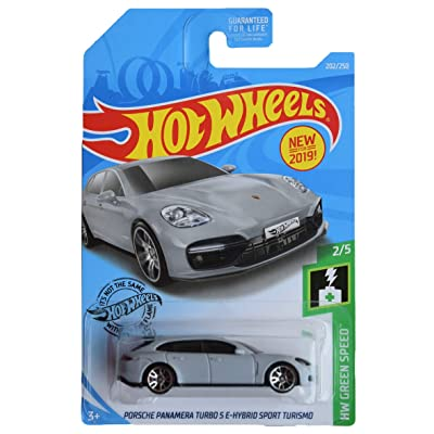 Hot Wheels Green Speed Series 2/5 Porsche Panamera Turbo S E Hybird Sport Turismo 202/250, Gray: Toys & Games