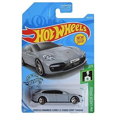 Hot Wheels Green Speed Series 2/5 Porsche Panamera Turbo S E Hybird Sport Turismo 202/250, Gray: Toys & Games