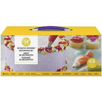 ab6b98cd91f8 Amazon.com  Wilton Decorator Preferred Buttercream Cake Decorating ...