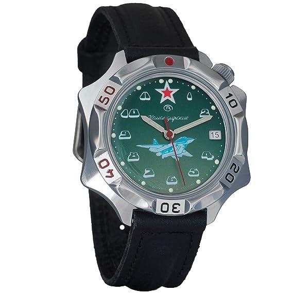 Vostok Komandirskie Mens Mechanical Russian Military Wrist Watch #531124: Amazon.es: Relojes