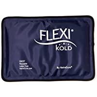 FlexiKold Poche de Glace Réutilisable Professionnelle | Pack de Gel Froid de Premiers Soins | Soulage la Douleur - Thérapie par le Froid | Résistant, Flexible et Souple même Congelé | Taille (19 x 29 cm)