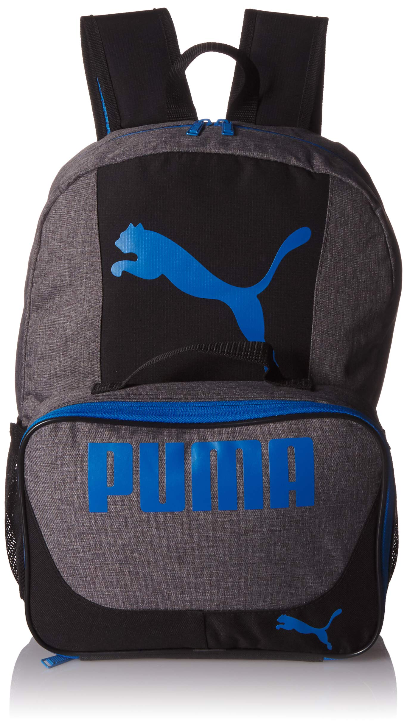 PUMA Boys' Little Backpacks and Lunch Boxes, Gray/Blue Kit, Youth by PUMA