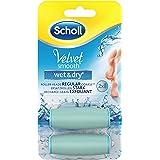 Scholl Velvet Smooth Pedi Wet & Dry Elektrischer Hornhautentferner Ersatzrollen, 2 Stück