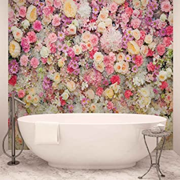 Beautiful Flowers Pastel Colours Photo Wallpaper Wall Mural