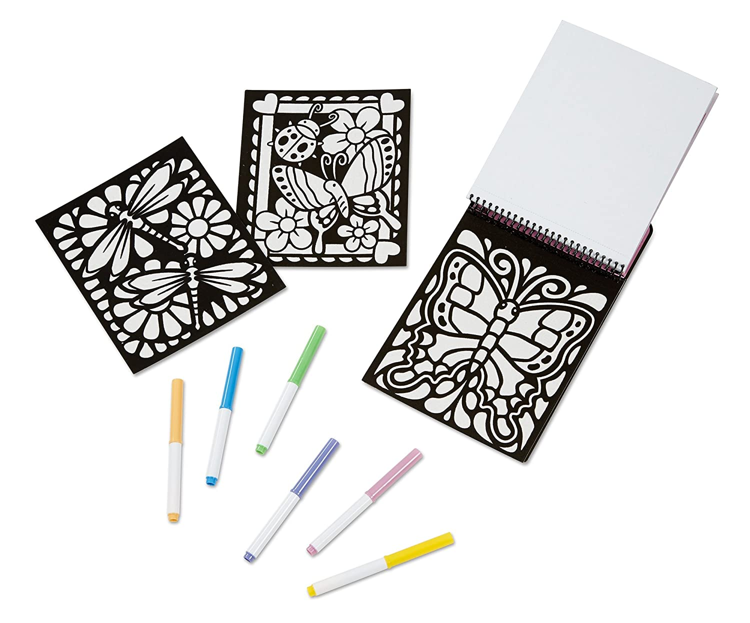 Amazon.com: Melissa & Doug Magic Velvet Marker Coloring Books Set ...