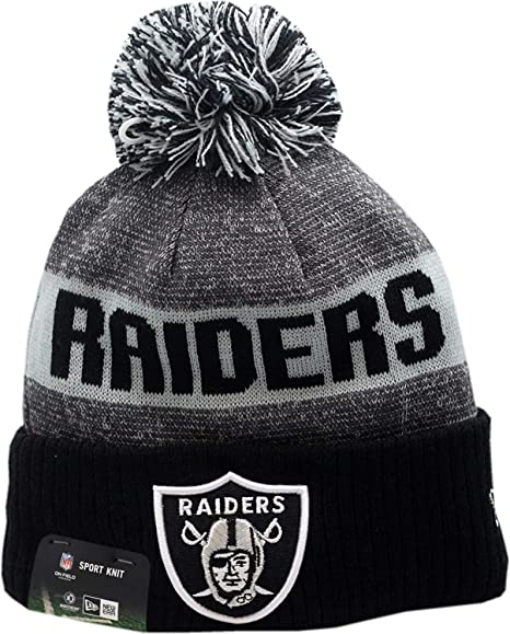 da757d26240 Image Unavailable. Image not available for. Color  Oakland Raiders 2016  Sport Pom Knit Hat ...