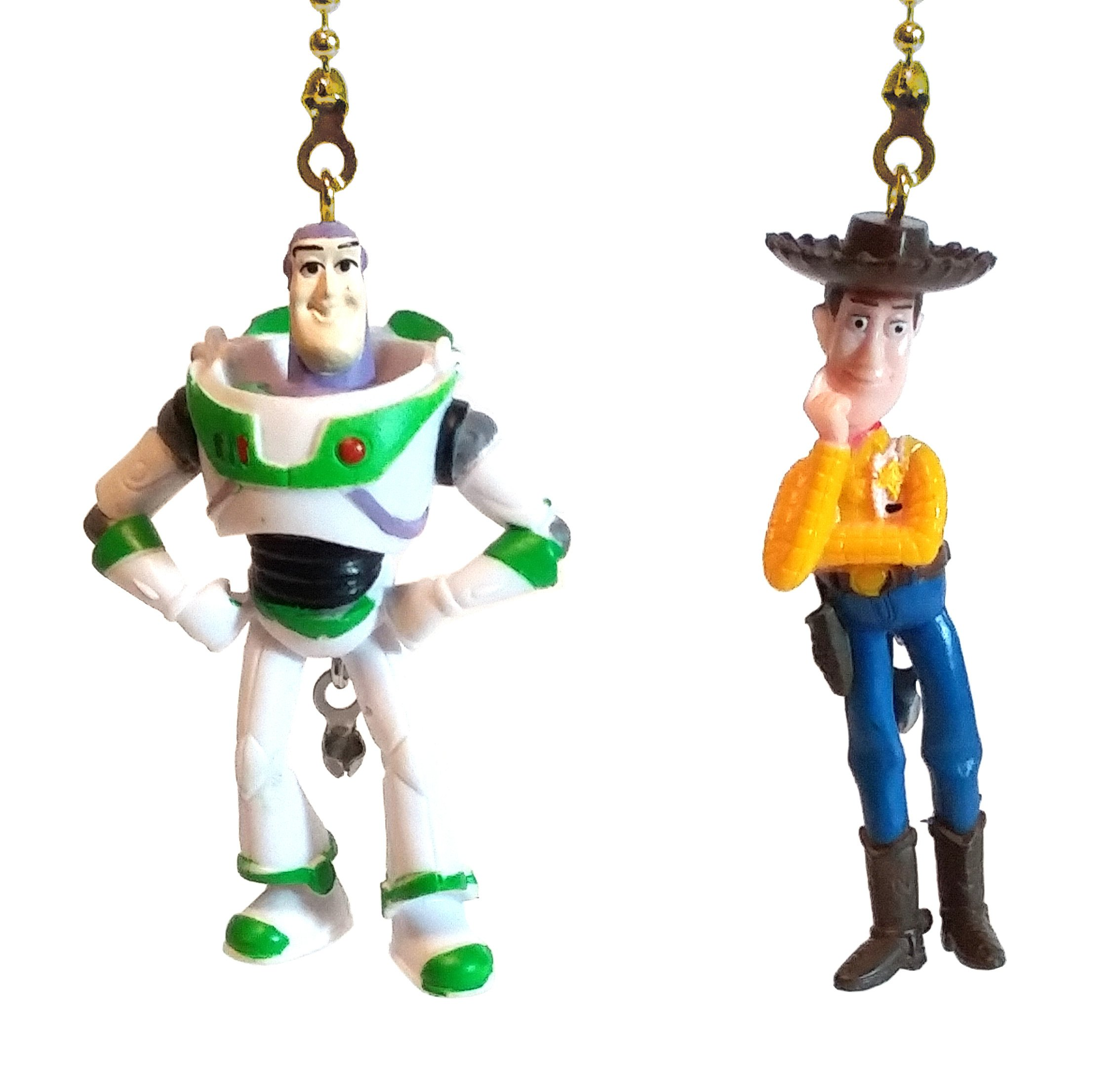 Toy Story Buzz Lightyear & Woody Fan Pull Set by Wooden Androyd Studio - Kid's Room Nursery Decor, Gift for Kids (Buzz & Woody Brass)