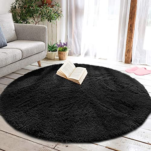junovo Round Fluffy Soft Area Rug