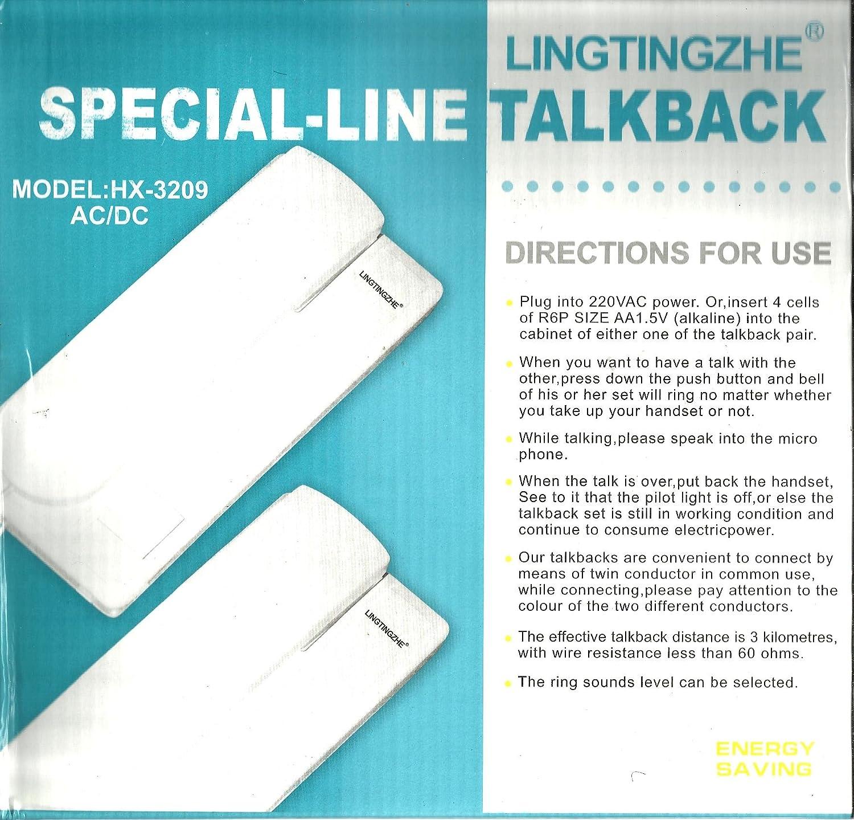 Buy LINGTINGZHE Landline Intercom Doorphone System - Set of 2 Online ...