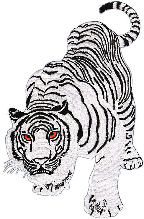 Patch Tiger Blanco Parche con Plancha Applikation tamaño Medium 9 ...