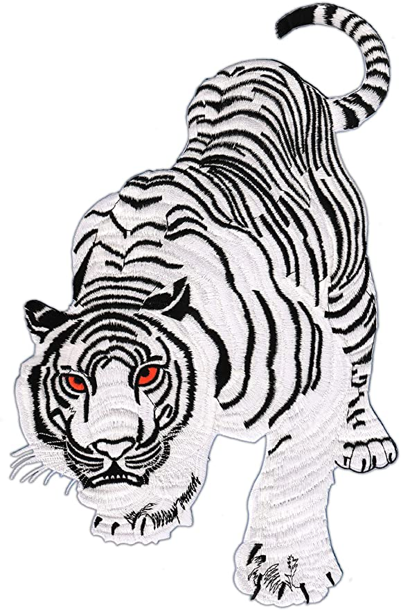 Patch Tiger Blanco Parche con Plancha Applikation tamaño Medium 9 ...