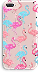 iPhone 6 Plus Case,iPhone 6s Plus Case,Aloha Summer Pink Flamingos Colorful Cute Tropical Girls Spring Hawaii Overload Translucent Soft Case Compatible for iPhone 6 Plus/iPhone 6s Plus