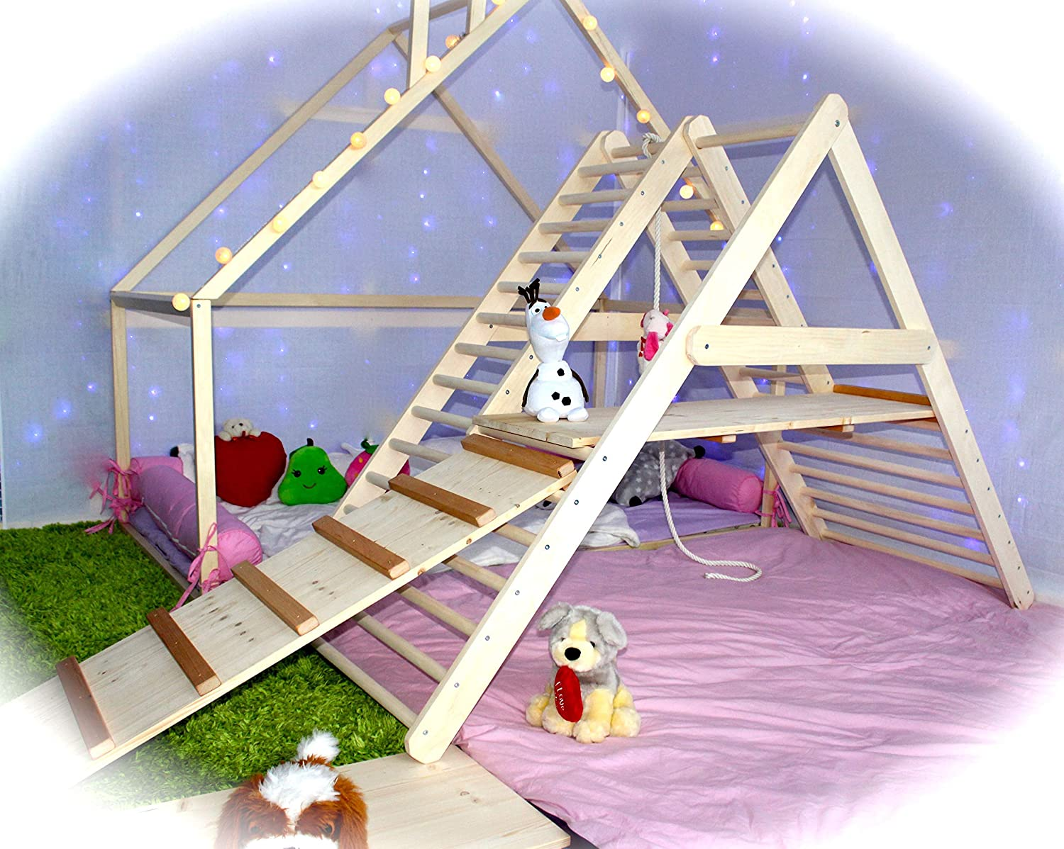 UGi-BUGi gym for toddlers, Step Triangle, Climbing ladder for toddler, Climbing triangle for toddlers, Triangle with ramp, Toddler gym