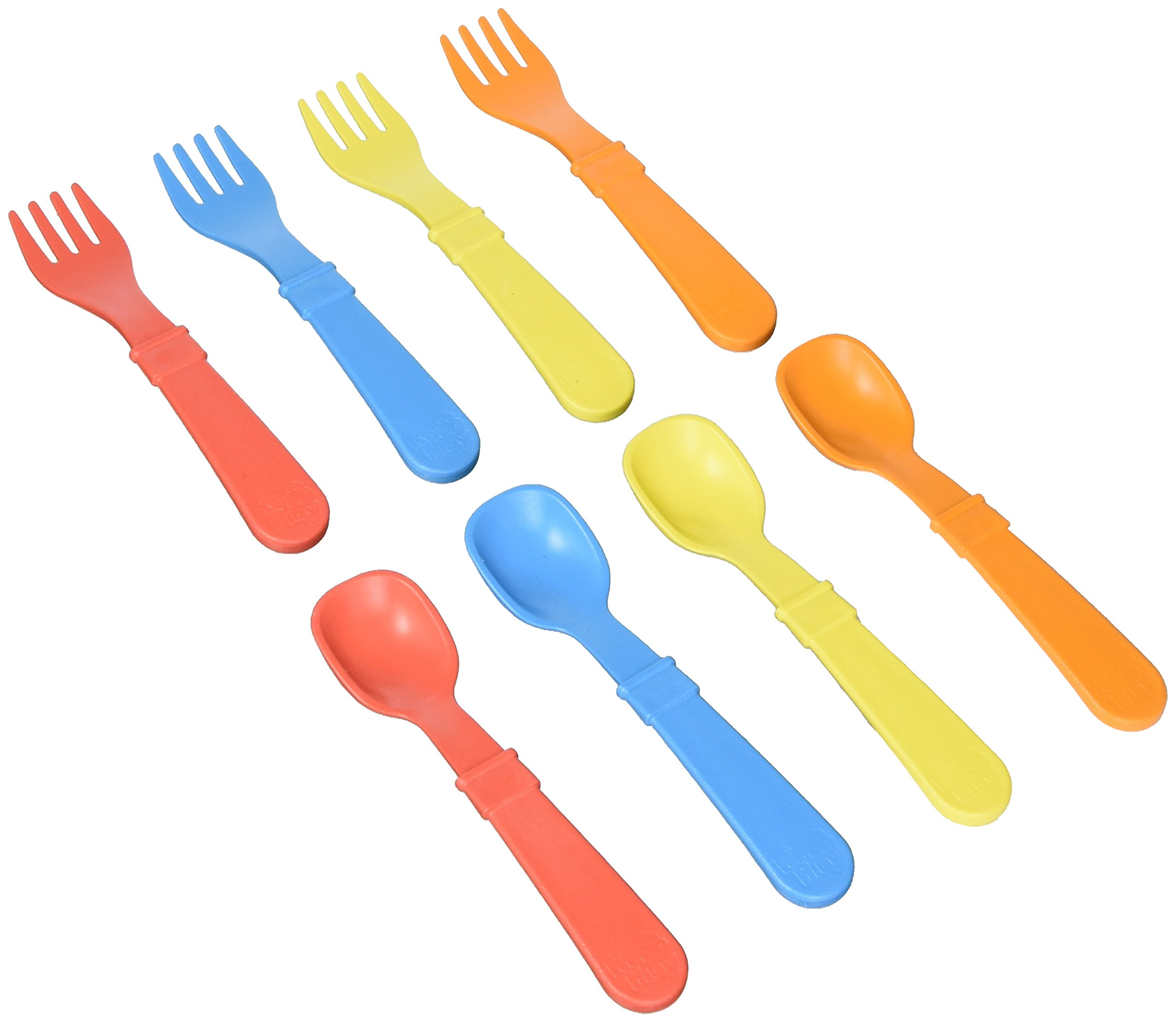 Re-Play 8 Count Utensils (Red/Blue/Yellow)