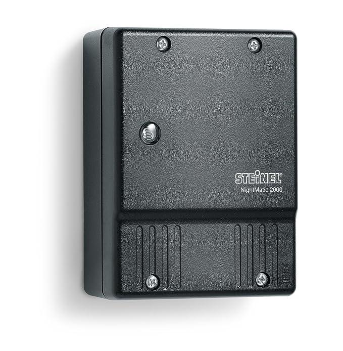 Steinel interrupteur crépusculaire NightMatic 2000 Noir – Capteur crépusculaire pour un éclairage automatique les nuits, idéal pour les façades et les entrées de maison, les par