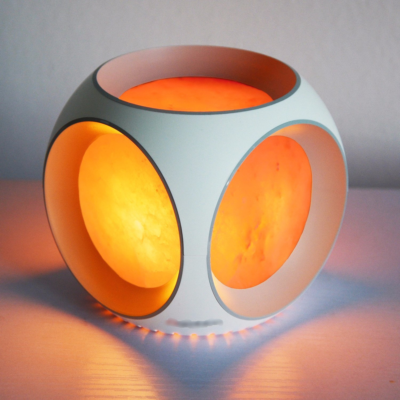 LIFE Home Himalayan Salt Lamp Natural Crystal Air Purifier and Ionizer with USA Power Cord