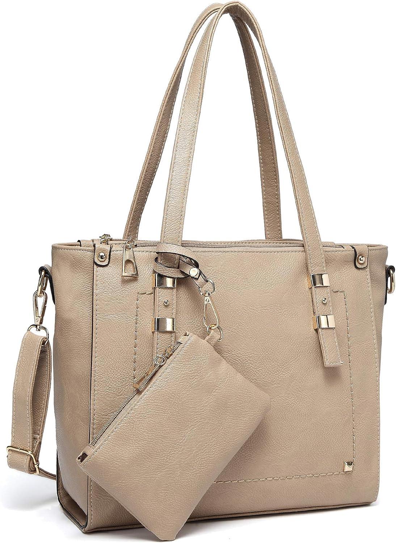 Ladies New Faux Leather Stitching Detail Detachable Strap Tote Bag Handbag