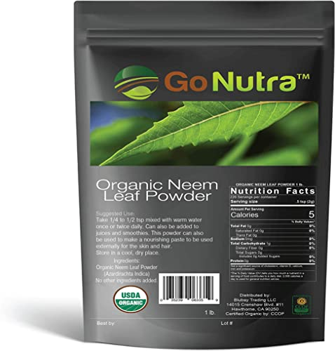 Neem Powder Organic India Neem Neem Powder 1 lb Neem Powder for Hair Face Skin Teeth Azadirachta Indica