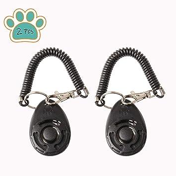 xuenisidan Entrenamiento para Perros de Mascota Clicker Big Button clicker con Banda de muñeca Strip for