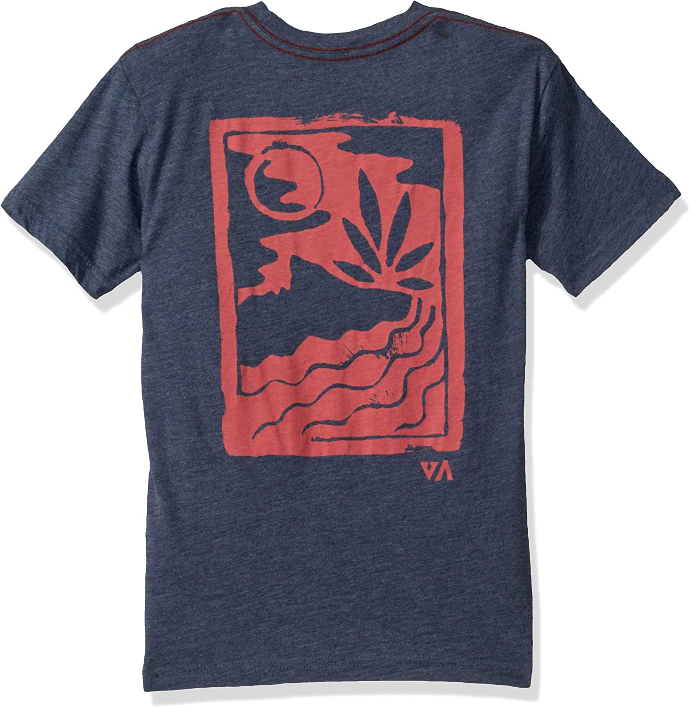 RVCA Boys Big Linocut Short Sleeve Crew Neck T-Shirt