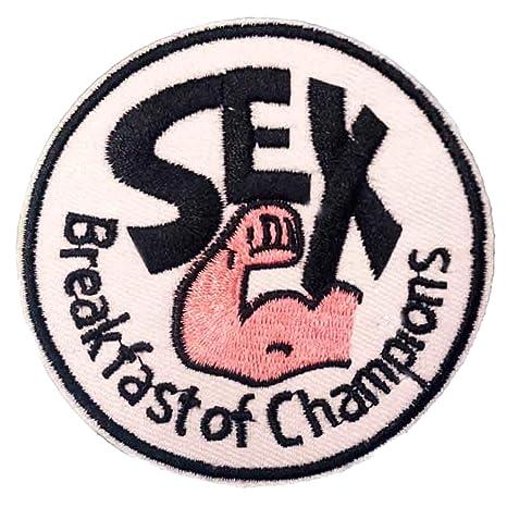 Amazon.com: Sexo el desayuno de los campeones parche ...