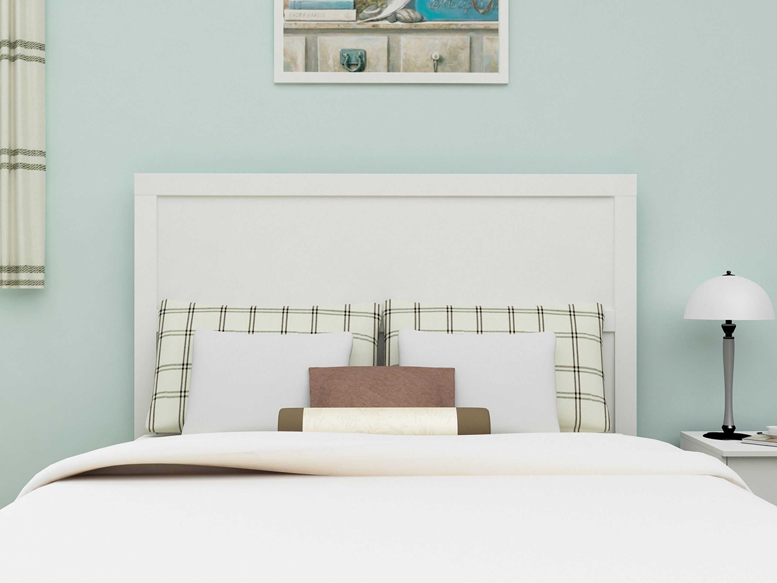 Homestar EB209134W5 Finch Queen & Full Headboard, 62.99 x 51.14 x 1.85'', Antique White by Home Star