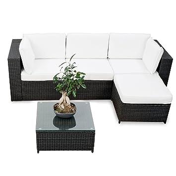 Schon Lounge Set Polyrattan Für Balkon Und Terrasse Erweiterbar   Balkon Rattan  Lounge Ecke