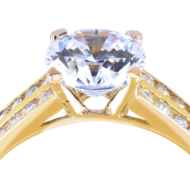 Gioro Verlobungsring Mina In 585 Gold Mit Swarovski Kristallen