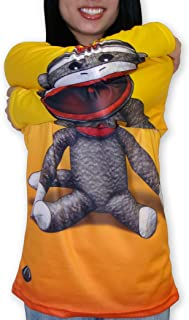 product image for MouthMan Unisex-Adult Sock Monkey Hoodie Shirt