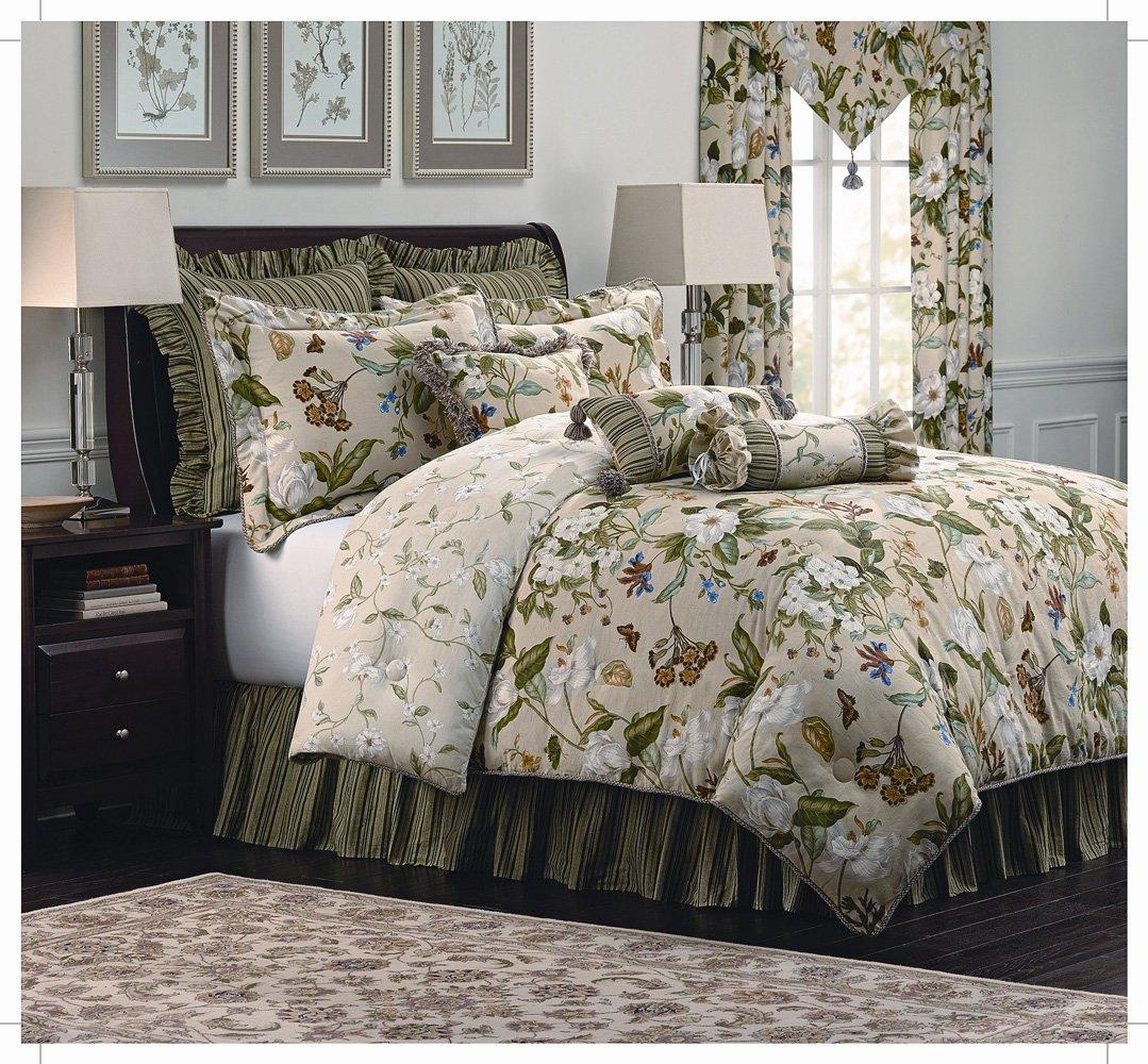 Royal Heritage Home Williamsburg Garden Images King Size Comforter Set, 9 Piece