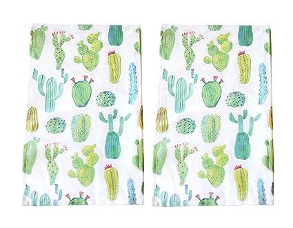 048710033c Amazon.com: Sunshine Vibes Cactus Tea Towel Set of 2: Home & Kitchen