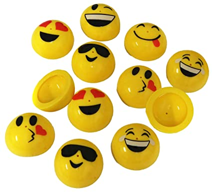 eae3c74bb Amazon.com  Emoji Poppers Pack Of 12 Party Popper Toys  Toys   Games