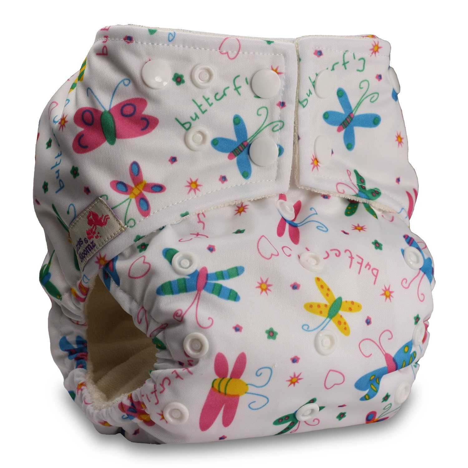 Pattern 12 Without Insert Fastener: Popper Littles /& Bloomz Baby Cloth Washable Reusable Nappy Pocket Diaper Bamboo
