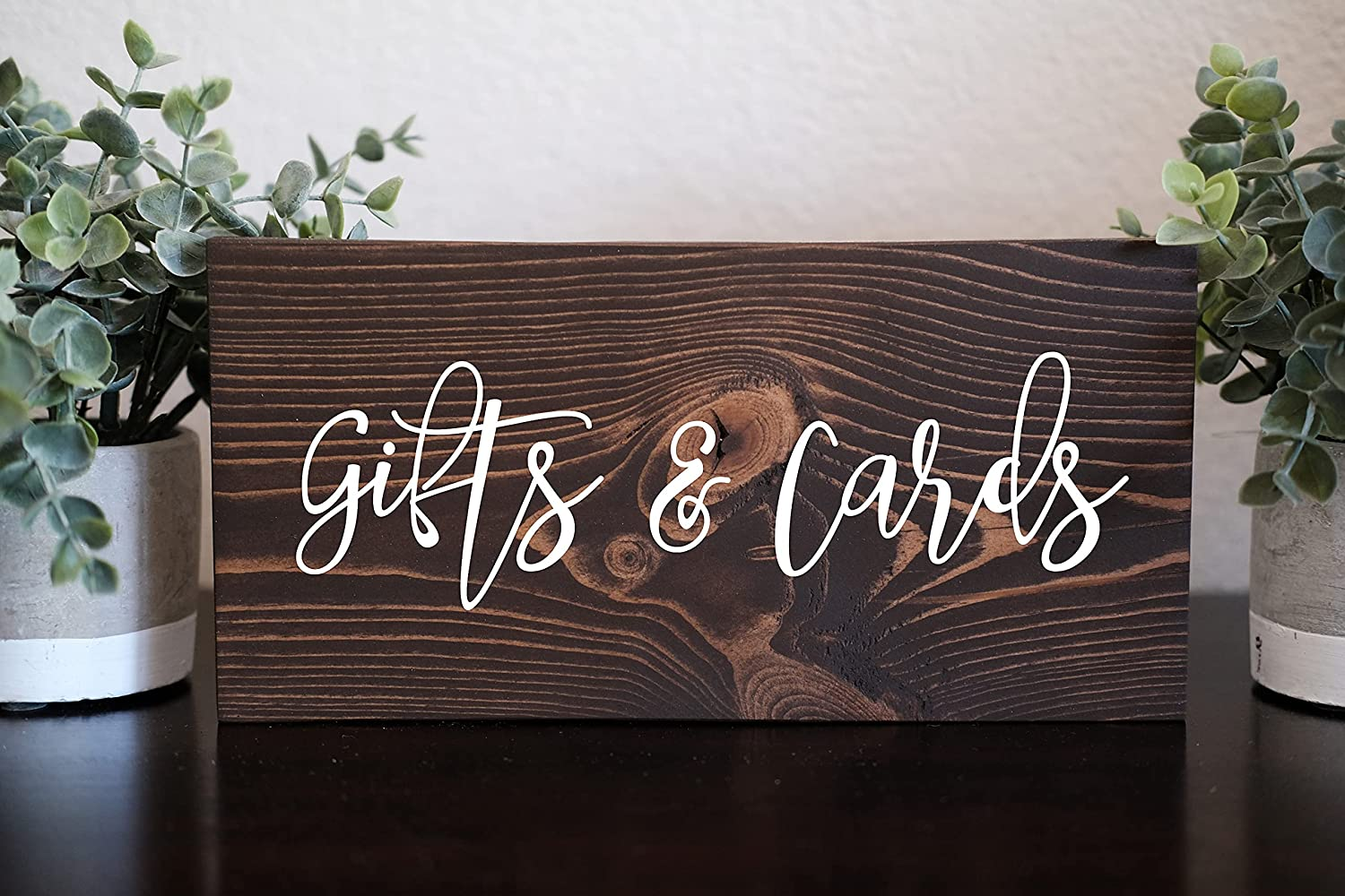 Diuangfoong 6 inches x 20 inches 1pc Wedding Date Sign, Wedding Signs, Wedding Wooden Sign, Wood Signs Wedding, Wedding Entrance Sign, Rustic Wedding Decor, Wedding Welcome Sign