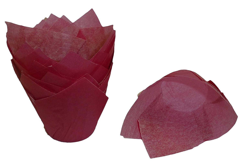 Cerise x 50 Scrumptious Sprinkles Tulip Muffin Cases