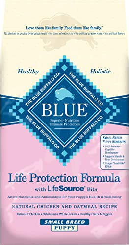 Blue Buffalo Blue Life Protection Formula Small Breed Puppy Chicken Oatmeal Recipe Dry Dog Food