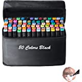 80 Alcohol Markers,Double Tipped Markers Permanent Art Marker Set for Kids and Dult Coloring, Sketch Markers for Drawing Sket