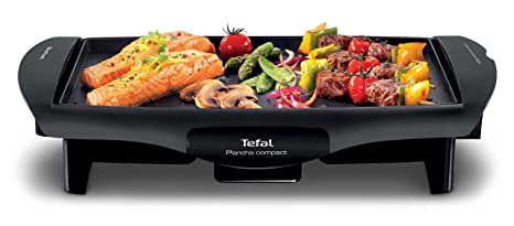 Tefal Compact CB500512 - Plancha Cocina Compact Antiadherente de 1800W con Placa Compatible Lavavajillas, Plancha de Asar, Antiadherente, Compatible ...